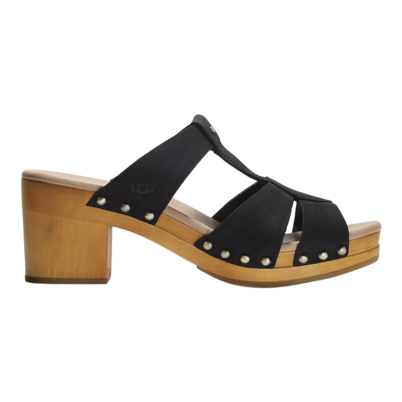 219351204ad Details about UGG Women's Jennie Sandal Shoes T Strap Platform Clog  1013220W Black
