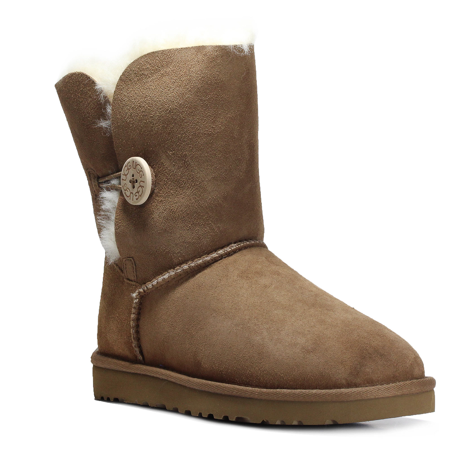 ec788caaef1 Details about Ugg Women's Bailey Button Ankle Boot Shoes 5803W Chestnut