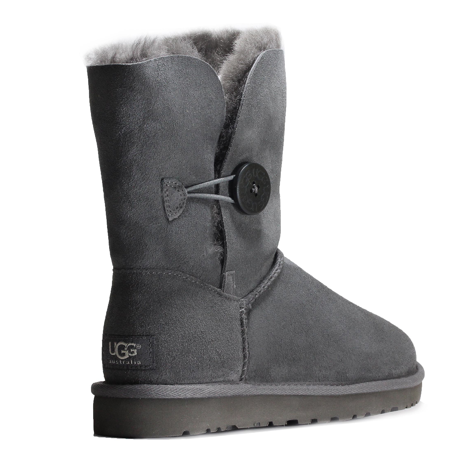 9abf8bbb0af Details about Ugg Women's Bailey Button Ankle Boot Shoes 5803W Grey