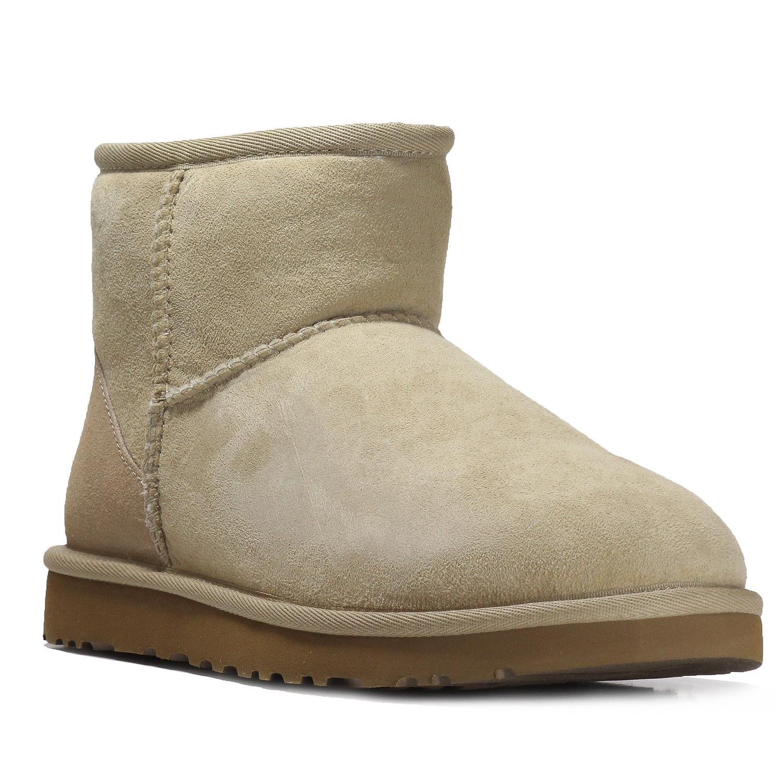UGG Australia Women\'s Classic Mini Sheepskin Boot shoes 5854 W SAND ...