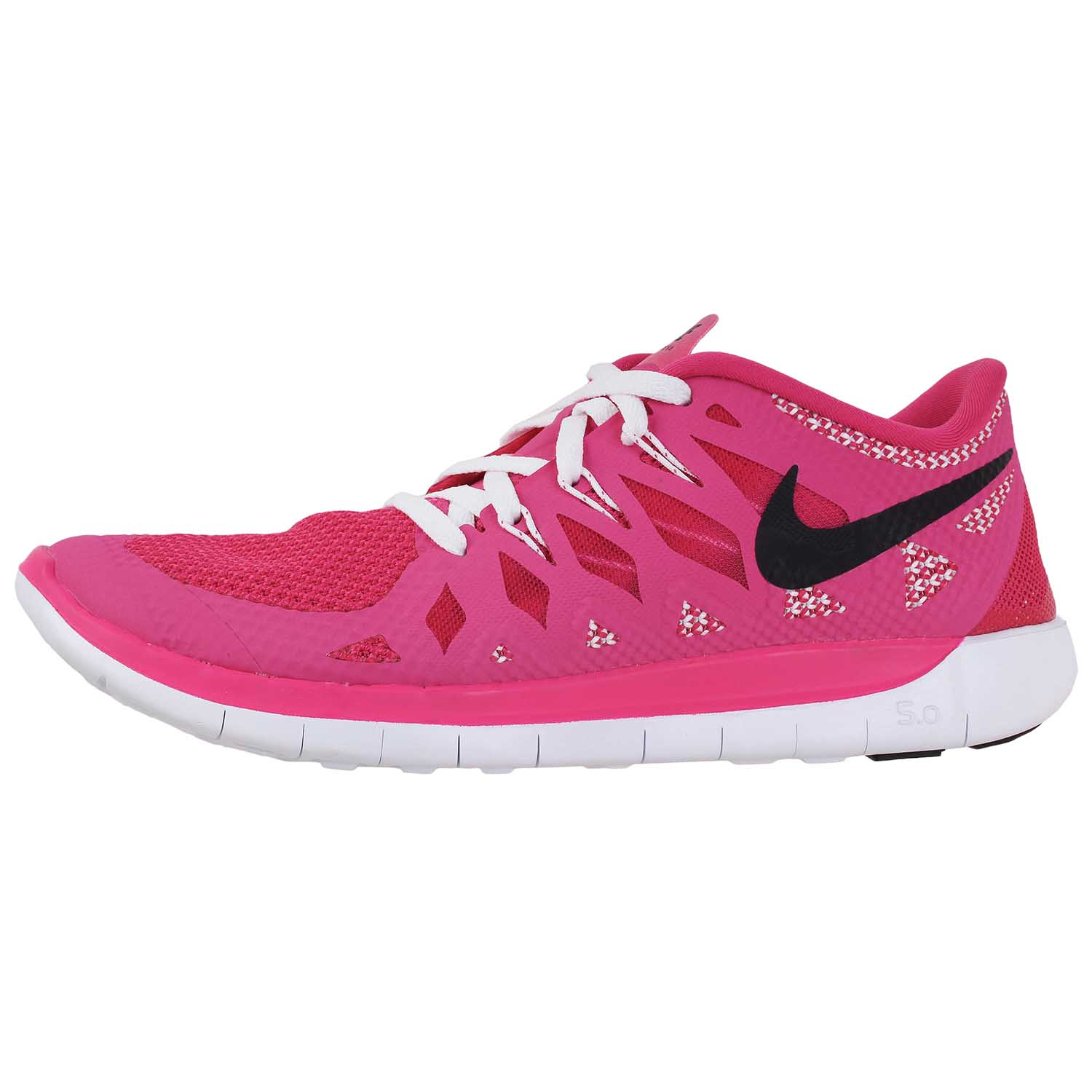 60e4ad2b5bfd5 Details about Nike Youth s Kids Girls Free 5.0 GS Running Sneakers Shoes  644446-602 Pink sz 7Y