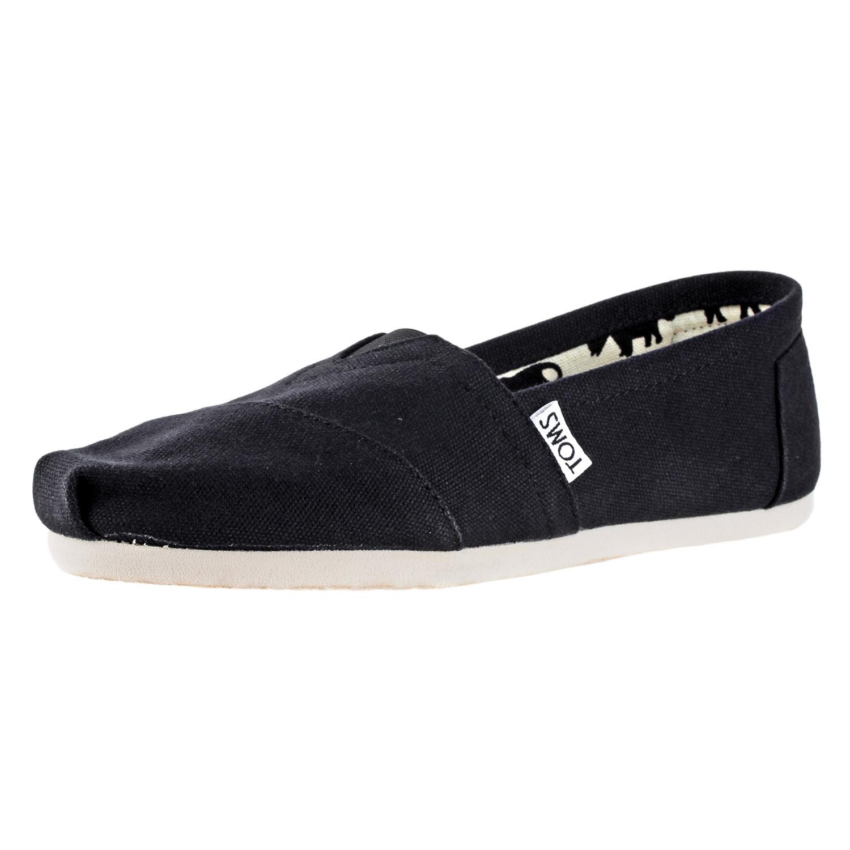 c6ee7076742 Details about Toms Womens Classics Slip-On Black Canvas Casual Shoes  001001B07-BLK-5.5E sz 5.5