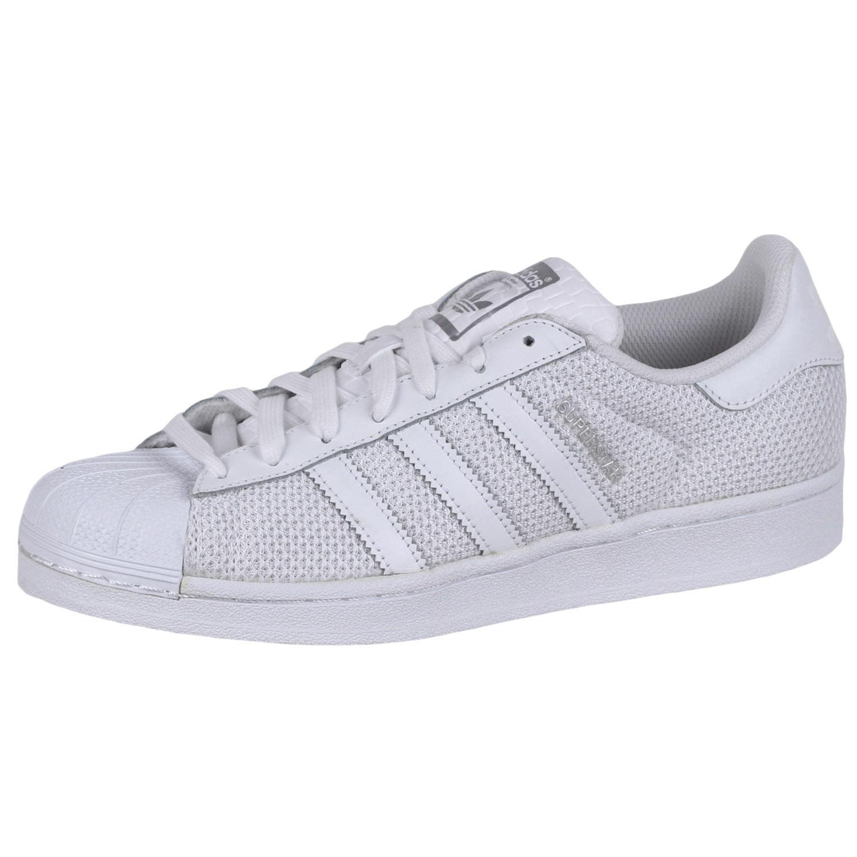 Details about Adidas Men's Superstar 80s Primeknit Sneakers Shoes S75962 Triple White sz8
