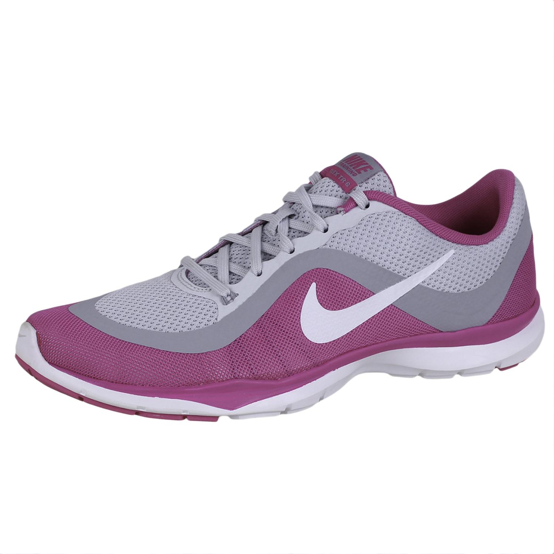 Detalles de Nike Mujer Flex Entrenador 6 Zapatillas 831217 005 9.5 GrisRosa 9.5