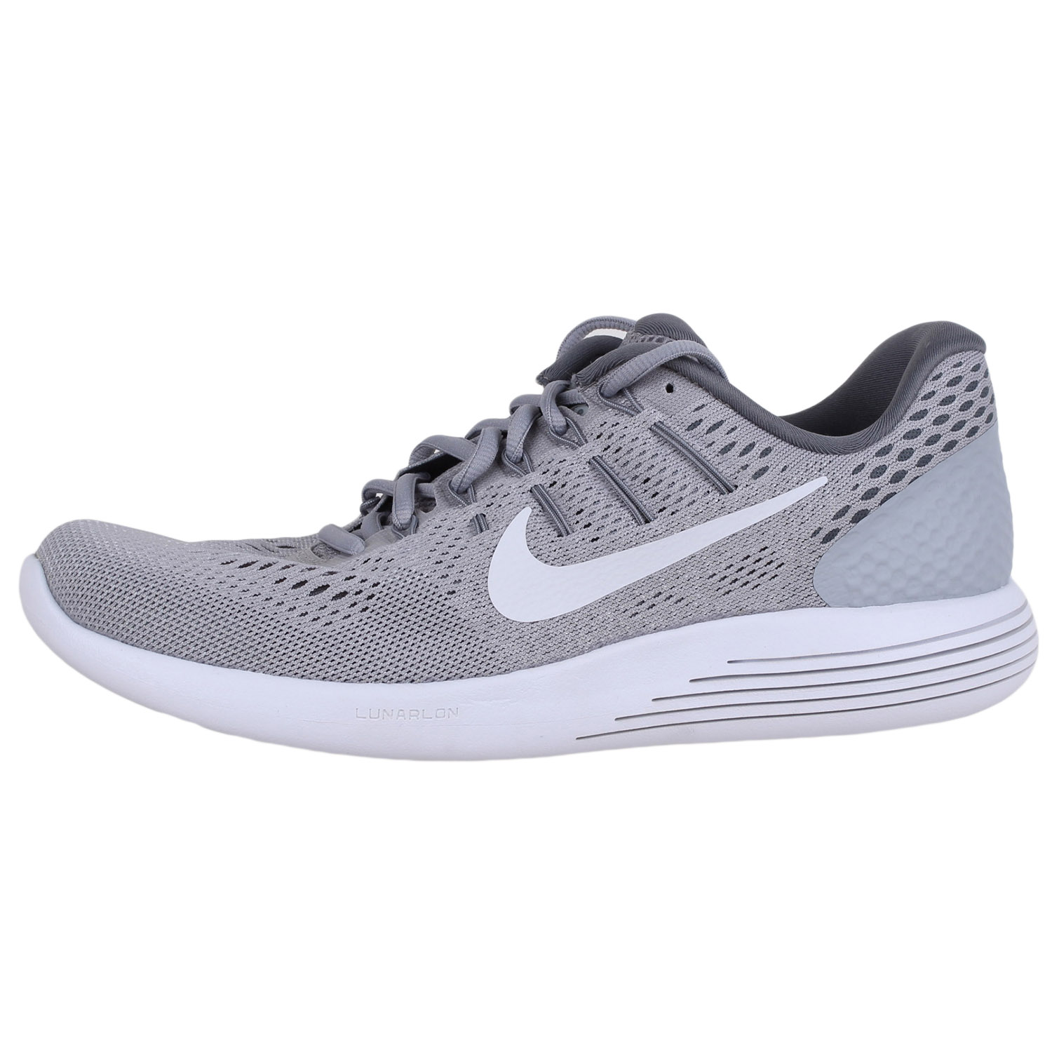 54512b05af46c Details about Nike Women s Lunarglide 8 Running Shoes 843726 Wolf  Grey White Cool grey sz.10