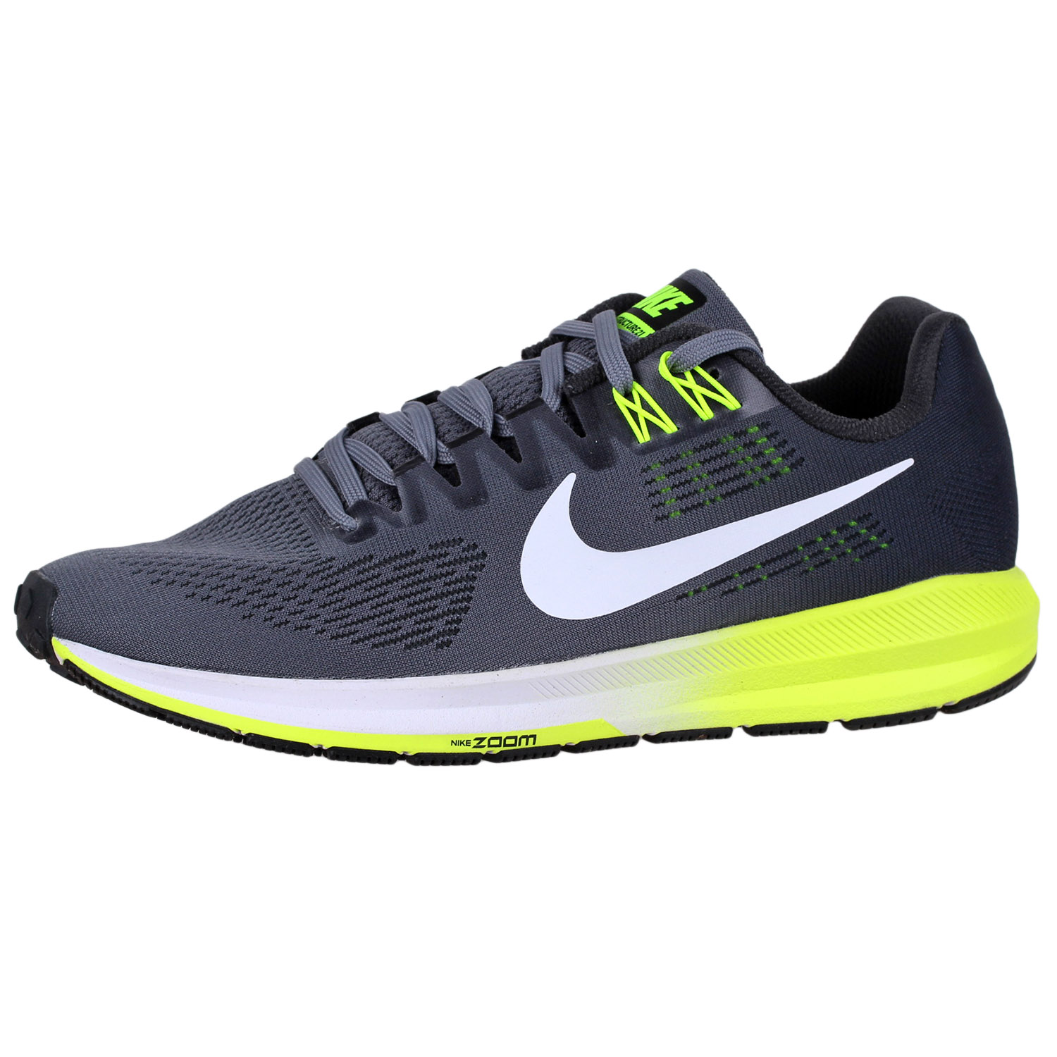 size 40 f4a1e 3414c Details about Men's Nike Air Zoom Structure 21 Running Shoes 904695 Grey 8