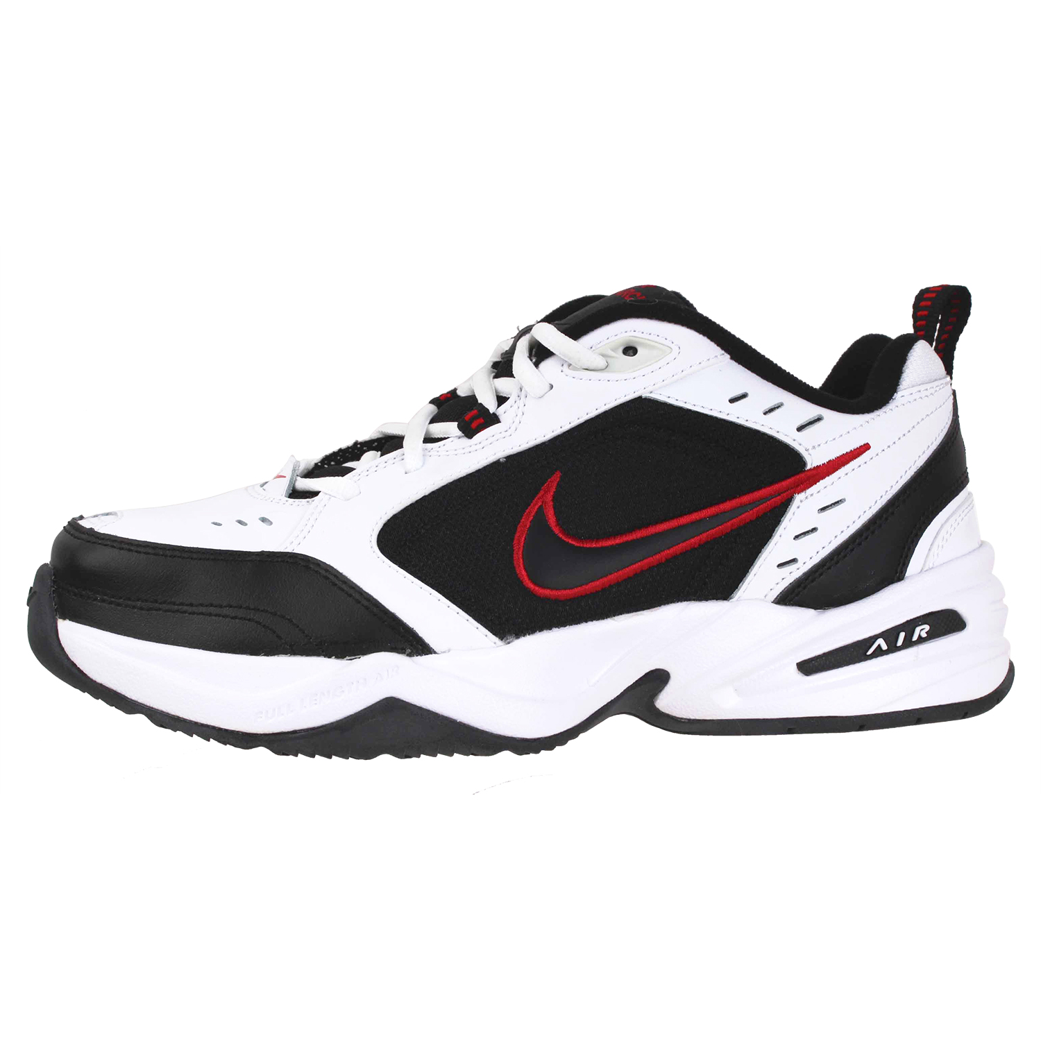 ab7838abd58 Details about Nike Men s Air Monarch IV Training Shoes 416355-101-7E  Wht Blk Red Size 7