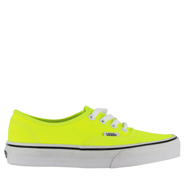 5c6d813c68b34 Details about Vans Mens Authentic Skate Shoes VN-0NJV5KV Neon Yellow Sz 4