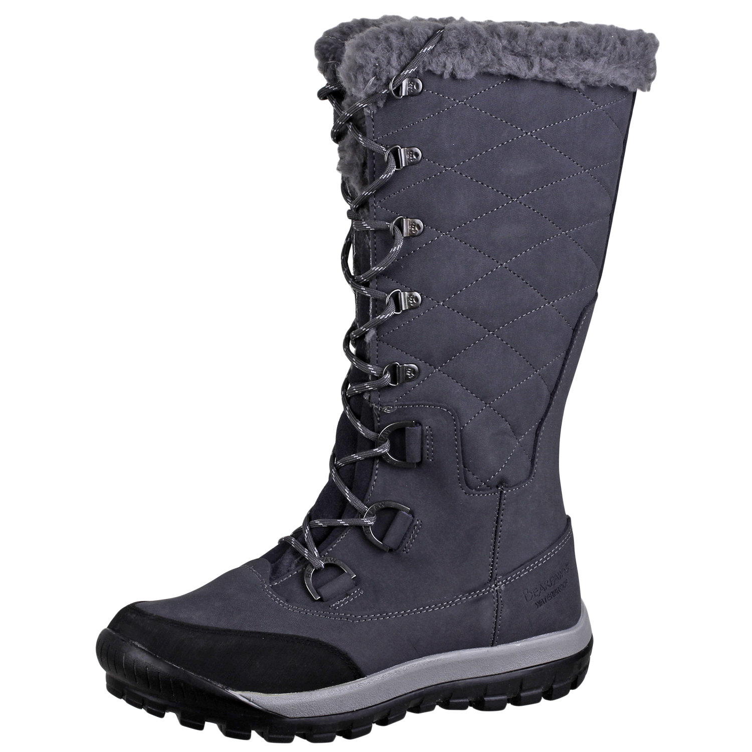 4dc11a8227a Details about BEARPAW Women's Isabella Waterproof Boot Shoes 1705W Charcoal  9