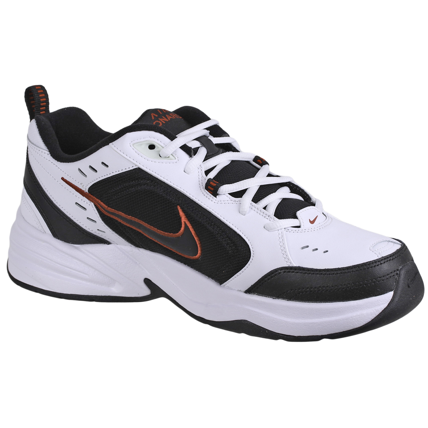 new arrival eafe0 13ce5 Nike Men s Air Monarch IV Trainer Shoes 415445 White Black sz10