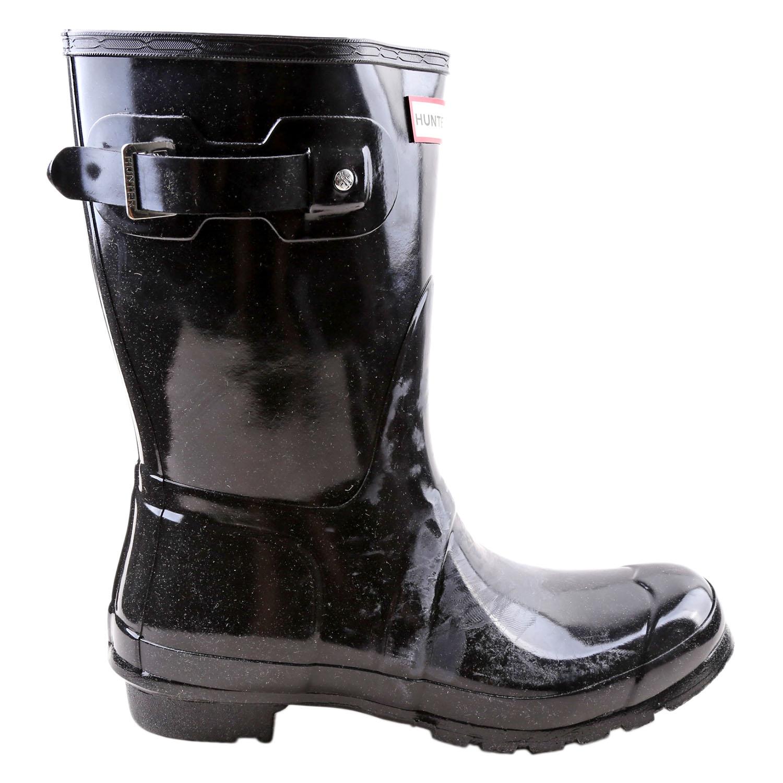 Détails sur Hunter Femmes Original Court Brillant Pluie Bottes Chaussures WFS1000RGL Noir 10
