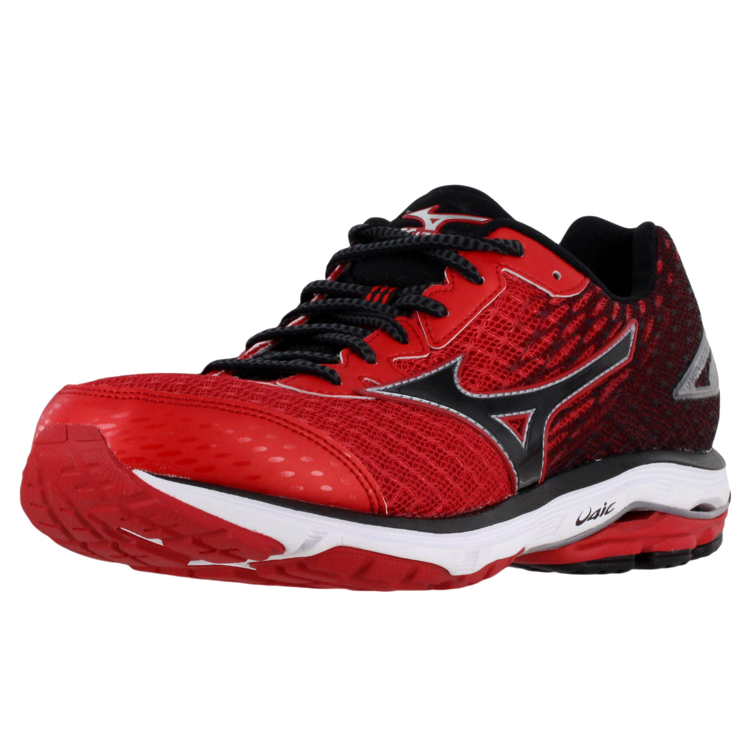 buy online 766b0 e824b Details about MIZUNO WAVE RIDER 19 MENS RUNNING SHOES 410734-1F90  RED/WHITE/BLACK